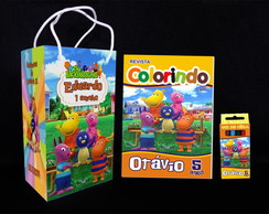 Kit de colorir Backyardigans Revista Sacola Giz + brindes