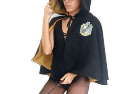 Fantasia Capa Curta Harry Potter Lufa-Lufa Unissex Adulto