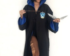 Fantasia Capa Longa Harry Potter Corvinal Unissex Adulto
