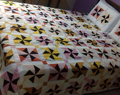 Colcha Queen de patchwork
