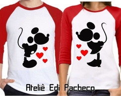 Kit camisetas Raglan Amor (Kit 2 Camisetas)