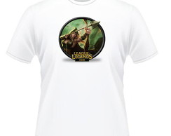 Camiseta 100% Poliéster League of Legends Ashe Sherwood Fore