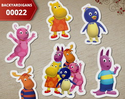 Aplique Backyardigans 3cm (Kit c/ 50un) - 00022