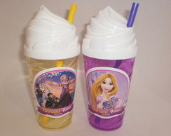 Copo Shake Chantilly com Canudo de 500ml Rapunzel 03