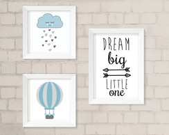 Kit Quadros Infantil - Dream Big