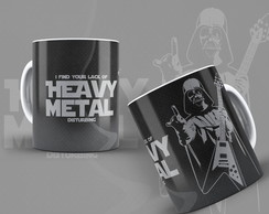 Caneca Darth Vader Rock Heavy Metal