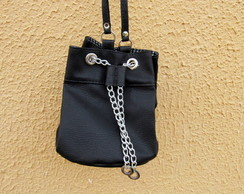 Mini Bolsa Bucket Bag Preta Exclusiva