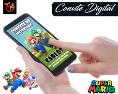 Convite Digital - Super Mario