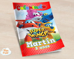 Revista colorir Super Wings