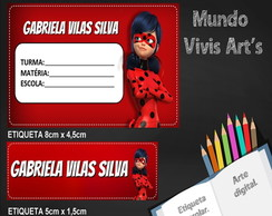 Etiqueta Escolar Digital Miraculous