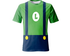 Kit 2 Camisetas Mario Bros e Luigi