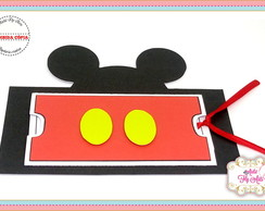 convite retratil mickey mouse