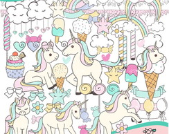 Cliparts Sweet Unicorn - Unicórnio