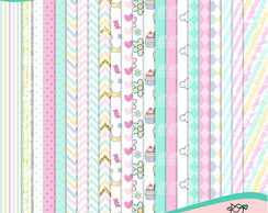 Kit de Papéis Sweet Unicorn