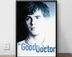 "Quadro Decorativo ""The Good Doctor"" com moldura e vidro"