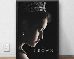 "Quadro Decorativo ""The Crown"" com moldura e vidro"