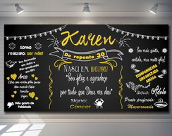 Painel Chalkboard 30 Anos