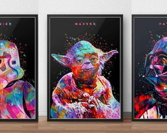 "kit com 3 posters ""star wars"""