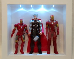 Display Expositor Hot Toys Action Figures LED Frente Vidro
