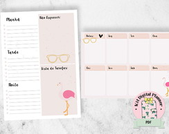 DESK PLANNER FLAMINGO