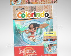 Kit Colorir da Moana + Brindes