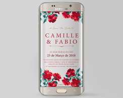 Save the Date Floral DIGITAL Camille