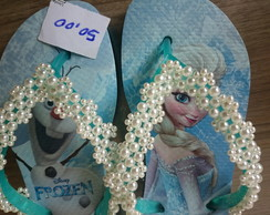 Chinelo Frozen Azul