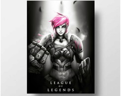 Quadrinho 18x13 s/ moldura - Vi - League of Legends