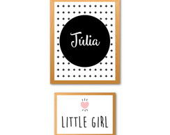 "Duo Poster Infantil ""Nome + Little Girl"""