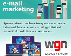 Criação de arte para e-mail marketing