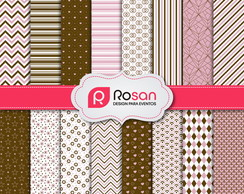 Papel Digital: Marrom e rosa