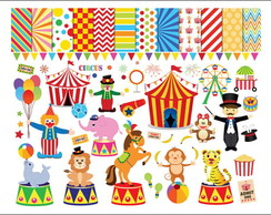 Kit Scrapbook Digital Circo