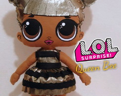 Queen Bee boneca feltro Lol surprise 47cm