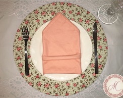Kit Mesa Posta-Floral:Capa sousplat, base, guardanapo3