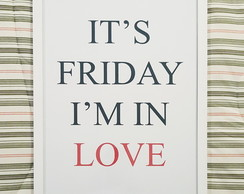 Poster It's Friday I'm in love The Cure