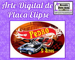 Arte Digital Placa Elipse Hot Wheels