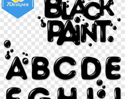 Alfabeto Black Paint - Kit Digital #13