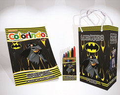 Kit de colorir Batman Sacola Giz Revista brinde