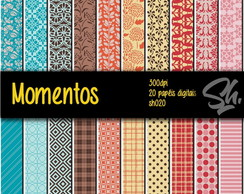 Kit Scrapbook Papel Digital SH020 - Momentos