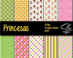 Kit Scrapbook Papel Digital SH027 - Princesas