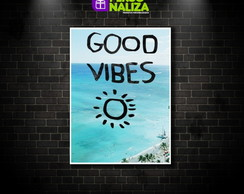 Quadro Decorativo - Good Vibes