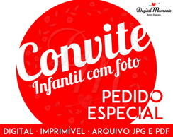 Convite Digital Design Exclusivo c/ Foto