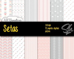 Kit Scrapbook Papel Digital SH044 - Setas