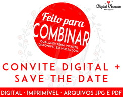 Combine - Convite Digital Infantil + Save the Date