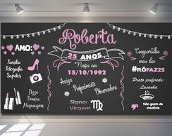 Painel Chalkboard 25 Anos