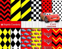 Kit Digital Scrapbook Carros Disney Cars 3