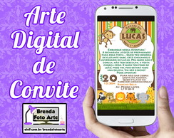 Arte Digital Convite Safari