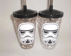 Copo Shake Canudo de 500ml Star Wars - Stormtroopers