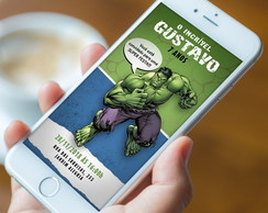 Convite Digital Hulk - WhatsApp