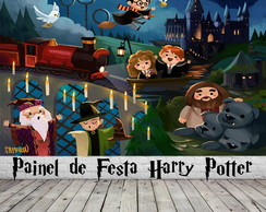 Painel de Festa Harry Potter Cute
